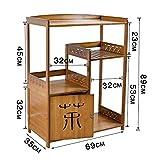 Ambiguity Tischregal Fußboden-Zudecke Mehrzweck Rack Tee Schrank Regal solide Holzlagerung Schränke