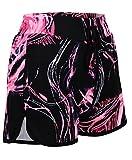 lotmart DONNE PALESTRA SPORT CANOTTA SHORTS Donna Active Run Wear FITNESS CANOTTA SHORTS - Shorts Black-cerise, M/L (EU38/40 UK10/12 US6/8)