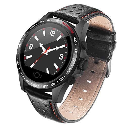 LXIANGP Smart Armbanduhr Carbon Fiber Case 1,22 Zoll Farbdisplay Herzfrequenz Blutdrucküberwachung IP67 Wasserdicht Halten Anruf Und Nachricht Erinnerung Android Und IOS -