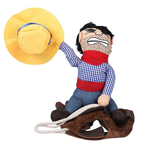 Pferd Für Menschen Kostüm - Pssopp Cowboy Rider Hundekostüm Cowboy Dress up Halloween Pet Apparel Lustiges Haustier Kostüm für mittelgroße und große Hunde und Katzen(S)