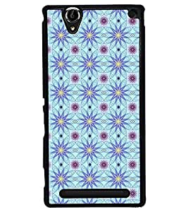 Fuson Premium Floral Vector Design Metal Printed with Hard Plastic Back Case Cover for Sony Xperia T2 Ultra Dual