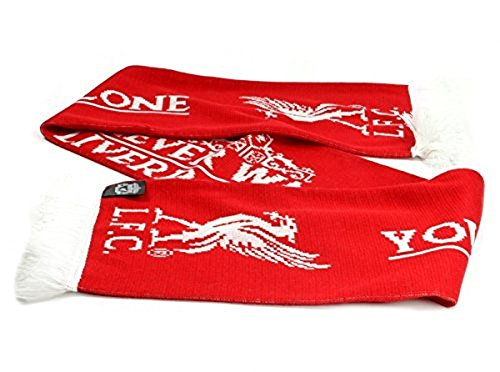 Liverpool FC You 'll never walk Alone, color rojo blanco ventilador Corona bufanda LFC oficial