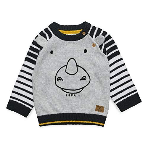 ESPRIT KIDS Baby-Jungen Sweater Pullover, Silber (Heather Silver 223), Herstellergröße: 92