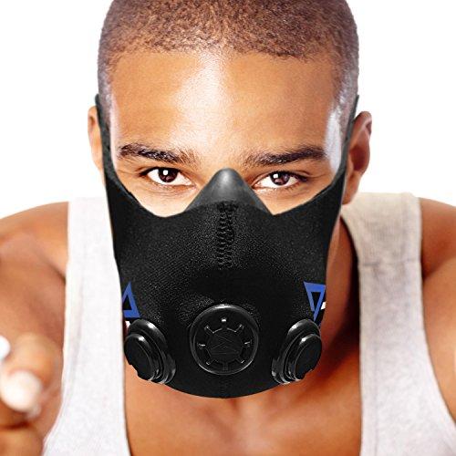 TRAININGMASK Elevación máscara de Entrenamiento de Resistencia para Ejercicios, Fitness, Correr, Deportes, Crossfit Entrenamiento a intervalos de Alta Intensidad ... (Black, Small)