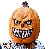 CreepyParty Máscara de Cabeza Vegetal de Fiesta de Traje Lujo de Halloween de Novedad (calabaza nuevo)