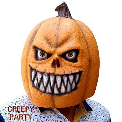 CreepyParty Deluxe Neuheit Halloween-Kost¨¹m-Party Latex Kopfmaske (Kürbis (Masken Adult Halloween)