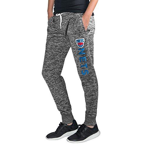 GIII For Her NBA Damen Sideline skinny Pants, Damen, Hardwood Classic Sideline Skinny Pant, grau meliert, XX-Large