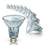 Osram Halogen SpotLights GU10 Dimmable Halopar SuperStar/EEC D/2700 K/100 Lumen/Warm White, 50 W, Set of 10