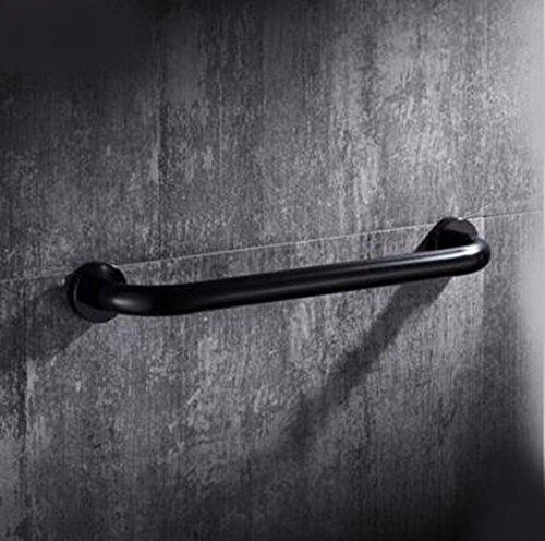 QPSSP La Sécurité dans La Salle De Bain Noir Accoudoir, Toilettes, Toilettes, La Manutention, l'espace Antidérapage Balustrade, Baignoire, D'Aluminium, De Personnes Âgées,50 Cm