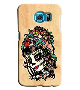 Blue Throat Girl Face Made Of Art Printed Designer Back Cover/ Case For Samsung Galaxy S6 Edge