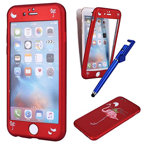 Coque iPhone 6s,iphone 6 Full Cover,MoreChioce Jolie Muster 360 Degrés Protection Housse Mat...
