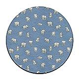 Telecharger Livres Little Baby elephants Tapis de sol rond Paillasson pour decoration maison salle a manger Chambre a coucher Cuisine Salle de bain balcon (PDF,EPUB,MOBI) gratuits en Francaise