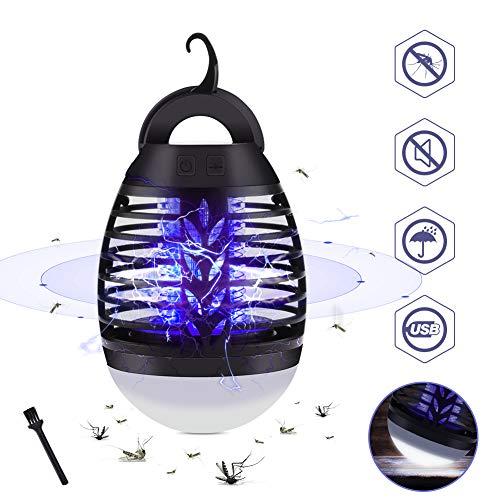 GEEDIAR Lampe Anti-Moustique, 2 en 1 Fonction, Répulsifs à Moustiques Lampe Camping Rechargeable, Portable IPX67 Imperméable, 3...