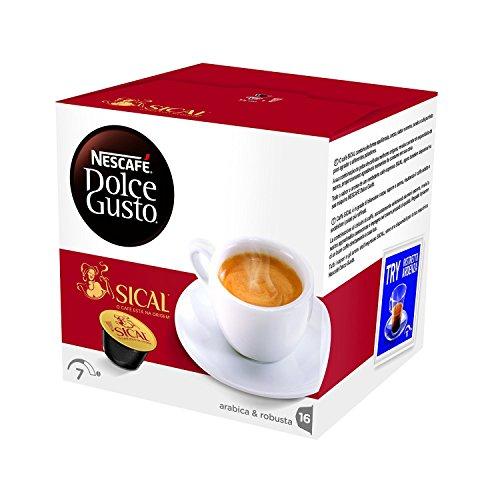 NESCAFÉ DOLCE GUSTO SICAL Caffè espresso 3 confezioni da 16 capsule [48 capsule]