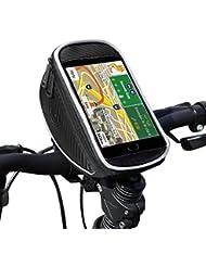 Support Etanche Téléphone , Ubegood Sacoche de cadre vélo Universel Support vélo to du Guidon pour iPhone 6/6s Plus/ 7 Plus/Samsung S7 edge etc - 5,5 pouces