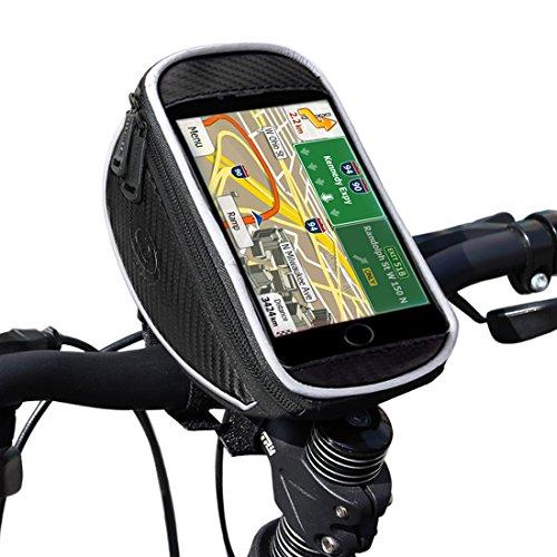 Preisvergleich Produktbild Fahrrad lenkertasche, Ubegood Handyhalter Fahrrad Tasche mit wasserdichte für iPhone 6s Plus/6 Plus/Samsung s7 edge andere bis zu 5,5 Zoll Smartphone