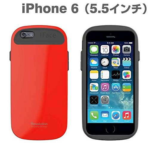 iFace Revolution 5.5 inch Case for iPhone 6 Plus Apple New iPhone 6 Plus Case 2014 Model 5.5 inch (White) Red