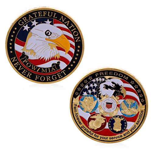 AmarzkVergoldete dankbare Nation Freiheit Gedenk Herausforderung Münzen Souvenir Geschenk -