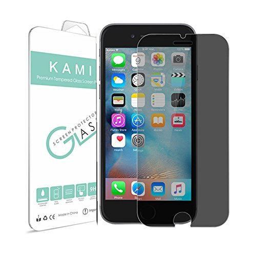 KAMII iPhone 7 Plus Privacy Protective Tempered Glass