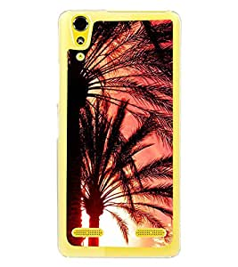 Fuson Designer Back Case Cover for Lenovo A6000 :: Lenovo A6000 Plus :: Lenovo A6000+ (Tree Palm Tree Desert Plant Sharp Leaves Long Leaves)