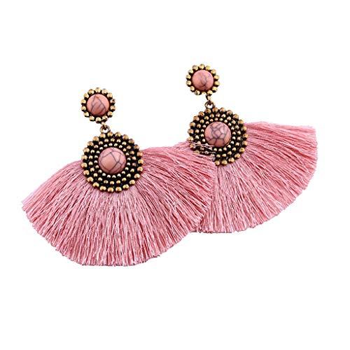 Preisvergleich Produktbild UINGKID Damen Ohrringe Mode Ohrstecker Kreative Türkis geometrische lange Quaste Anhänger Schmuck