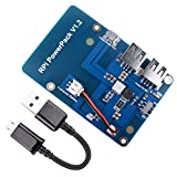 Quimat Raspberry Pi Batterie ,Batterie Carte d'extension pour Raspberry Pi 3, Power Pack Alimentation avec Câble USB pour Pi 3 2 Modèle A A + B B + 3800mAh 5V / 1.8A (QKY68)