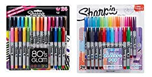 Sharpie Ultra-Fine Point Permanent Markers, 80s Glam and Electro Pop Colors, 48 Markers In Total