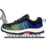 SUADEEX Arbeitsschuhe Herren Stahlkappe Damen Sicherheitsschuhe Leicht Atmungsaktiv Schutzschuhe Sportlich Turnschuhe Trekking Schuhe Traillaufschuhe
