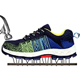 SUADEX Damen Herren Sicherheitsschuhe Sportlich Trekking Wanderhalbschuhe Stahlkappe Arbeitsschuhe Hiking Schuhe Traillaufschuhe, 02-grün, 40 EU