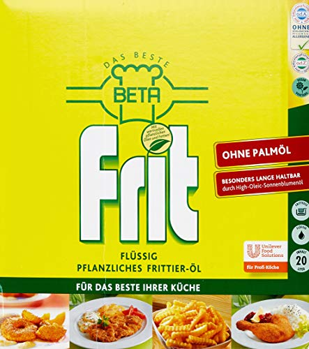 Beta Frit flüssiges Frittieröl ohne Palmöl (Bag in Box) 1er Pack (1 x 20L)