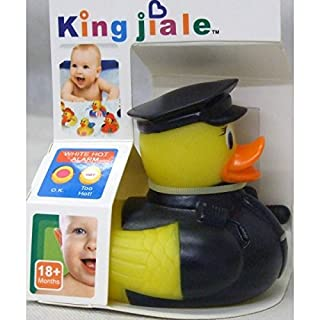Allkindathings  Children Rubber Colour Changing Heat Safety Fun Kid Bath Toy Baby Duck Policeman