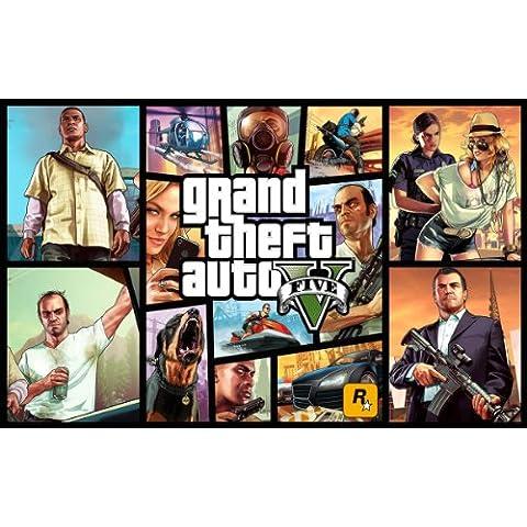 Grand Theft Auto 5sobre lienzo Varios precios/tamaños disponibles, 16x12 inches (40cm x 30cm)