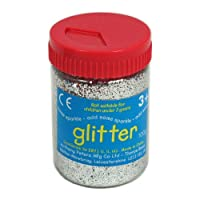 Silver Art and Craft Glitter - 100g Tub