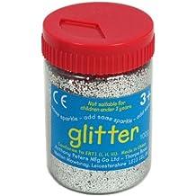 Silver Art and Craft Glitter - 100g Tub