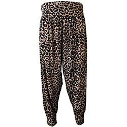 BlessFashions - Pantalón - Harem - para Mujer Estampado De Leopardo 50-52