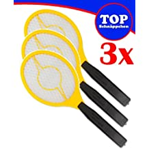 Trango® 3er Pack elektrische Fliegenklatsche Fliegenfänger Mücken Neu