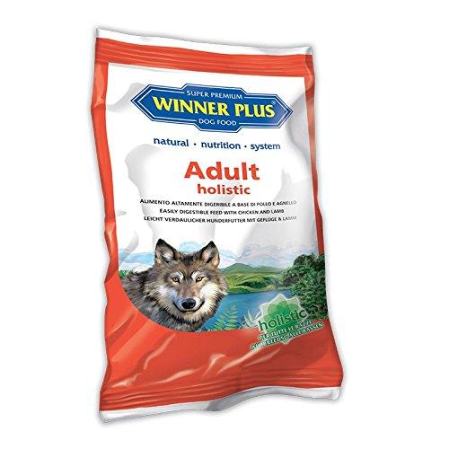 WINNER PLUS Adult holistic 150 g - Alimento olistico, senza glutine, facilmente digeribile, con pollo e agnello per cani sensibili o con allergie