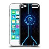 Head Case Designs Offizielle Alyn Spiller Blau Neon Soft Gel Hülle für Apple iPod Touch 6G 6th Gen