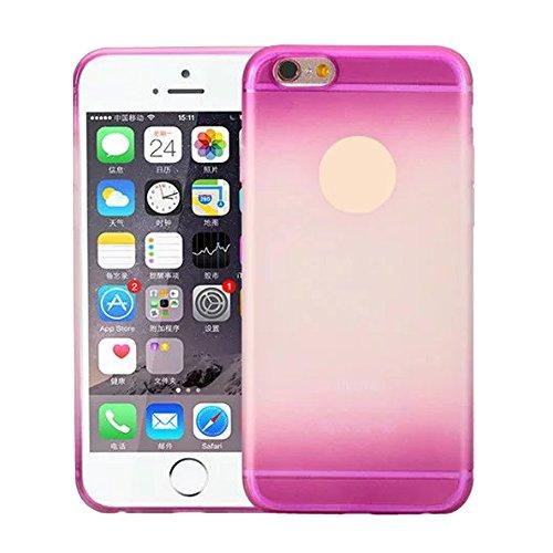 Cuitan TPU Weiche Schutzhülle Hülle für Apple iPhone 6 plus / 6s plus (5,5 Zoll), Frosted Gradient Design Rück Abdeckung Handytasche Rückseite Tasche Handyhülle Case Cover für iPhone 6 plus / 6s plus  Lila