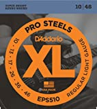D\'Addario Cordes pour guitare électrique D\'Addario ProSteels EPS510, Regular Light, 10-46