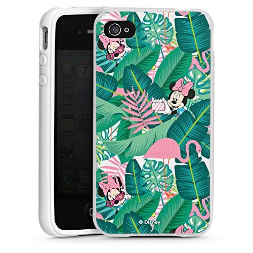 DeinDesign Silikon Hülle kompatibel mit Apple iPhone 4 Case Schutzhülle Minnie Mouse Disney Offizielles Lizenzprodukt
