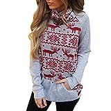 Xmas Shirt Damen Frohe Weihnachten Rollkragen Schneeflocke Elch Print Wollpullover Xmas Strickoberteile Herbst Winter Schneeflocke Elch Rollkragen Pullover Top Pocket Sweatshirt -