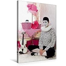 Premium Textil-Leinwand 50 cm x 75 cm hoch, Mesto | Wandbild, Bild auf Keilrahmen, Fertigbild auf echter Leinwand, Leinwanddruck: Weiße Geige auf Reisen: Der traurige Clown (CALVENDO Kunst)