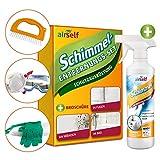 Schimmelentferner-Set: Schutzkleidung und Schimmelspray, 500ml, zur praktischen Anwendung an Wänden, Fugen, Fliesen