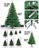 Árbol de Navidad artificial árboles C/Soporte metálico 120-210cm (Verde, 180cm 477Tips)