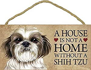 A House Is Not A Home Without Shih Tzu Puppy Cut Short Hair Cut 5 X 10 Door Sign By Sjt Amazon In Home Improvement