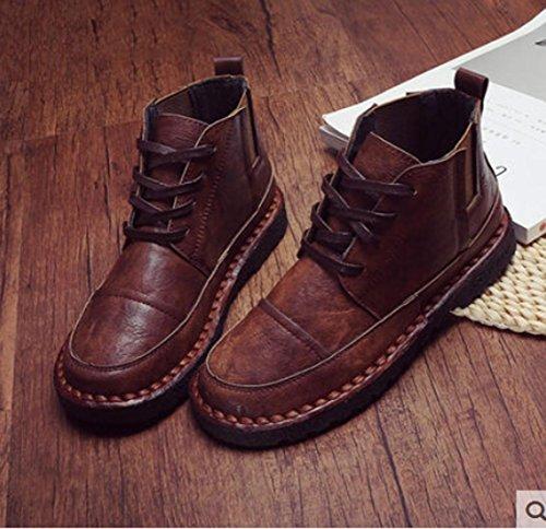Heart&M Autunno/inverno nuovo Ciao-morbido fondo e copertina morbida pizzo vintage stivaletti e pile vento occidentale e confortevoli scarpe casual c