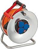 Brennenstuhl Garant S IP44 Kabeltrommel (40m Kabel in orange, Stahlblech, Einsatz im Außenbereich, Made in...