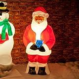 Festive Lights strombetriebene, beleuchtete Weihnachtsfiguren, verschiedene Motive und Größen, für Innen und Außen, (Weihnachtsmann 87cm)