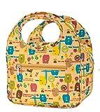 iSuperb Borsa Termica Pranzo Porta Pranzo Borsa Frigo Piccola per Bambina Lunch Bag con Animale Fumetto 22.5x14.5x16.5cm (Giallo)